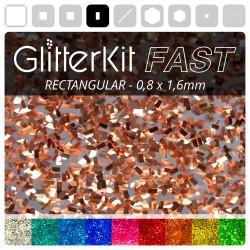 RECHTECK Kupfer GlitterKit...