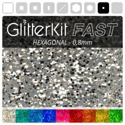 HEXAGONAL 0,8 GlitterKit Fast