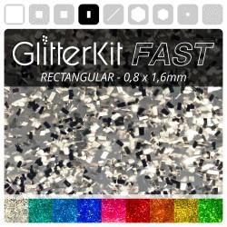 RECHTECK Silber GlitterKit...